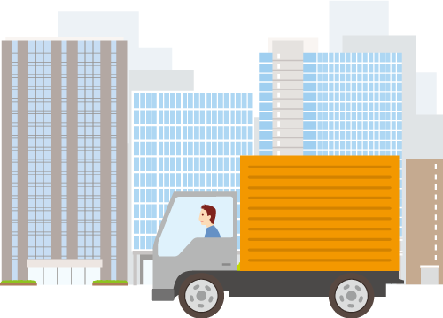 営業ナンバー取得 トラック運送イメージ